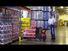 Toyota's Electric Walkie Pallet Jack #forklift Working hard so you don't have to.