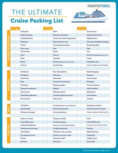 cruise packing list More