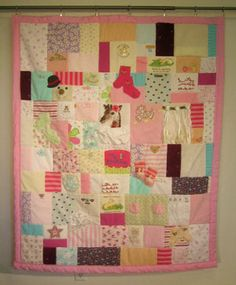 802331a9e 30 Best quilt from baby clothes images