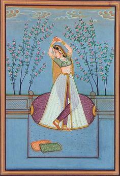 Dancing Ragini - Miniature Painting from Rajasthan