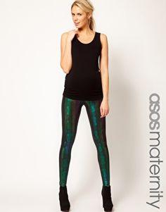 ASOS maternity-snake leggings. Pregnancy is making my style bolder...and I love it.