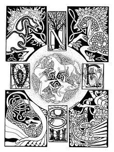 celtic horse art   Celtic Horses ©2010, Cathey Osborne, SciFi Fantasy Art
