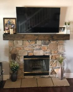 Beautiful, floating, fireplace mantel! Handmade, distressed and stained wooden beam mantel. Miter joints on the ends keep the wood grain continuous. Hollow box construction. All wood, no veneers! Mounting hardware included. Available in sizes 48 - 96 in Different stains available, Jacobean shown.