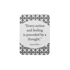 A motivational quote to remind you to think the right thoughts that will propel you to take action for success.  #Motivational #Quote #Magnet #zazzle