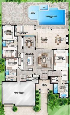 floor plan: single-story, 4 split bedrooms or 3 beds/ study,3....