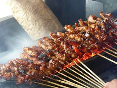 Sate Ayam #sate #ayam #chicken #satay #indonesian #traditional #food #delicious #photo