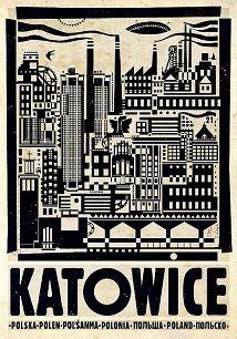 Ryszard Kaja - Katowice, polski plakat turystyczny