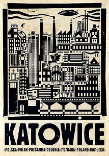 Katowice, polski plakat turystyczny