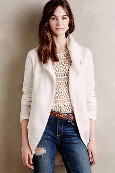 Wrapped Boucle Jacket - sleeping on snow anthropologie.com