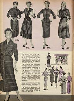 Great 1950s daywear dress options.