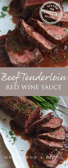 Roast Beef Tenderloin with Red Wine Sauce