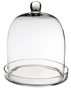 """CYS Cloche Bell Glass Dome with Tray, 14"""" CYS https://www.amazon.com/dp/B0089EPPDQ/ref=cm_sw_r_pi_dp_x_71Fpyb04DK448"""