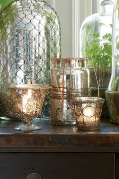 Love the old world look of these CALAIS VOTIVE HOLDERS for dining and entertaining  $44.95