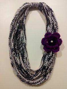 Πλεκτο κολιε Crochet Necklace, Diy, Accessories, Jewelry, Fashion, Moda, Jewlery, Crochet Collar, Bricolage