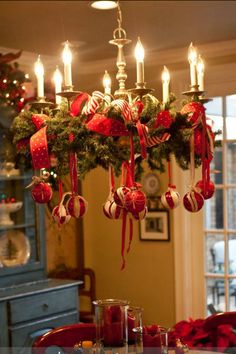 Christmas chandelier wreath