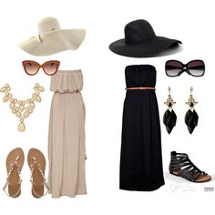 Maxi dresses and hats