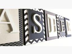 Name Letters for Boy Nursery Wooden Wall Letters, Name Letters, Nursery Letters, Letter Wall, Wooden Walls, Nursery Room, Boy Room, Nursery Decor, Child's Room