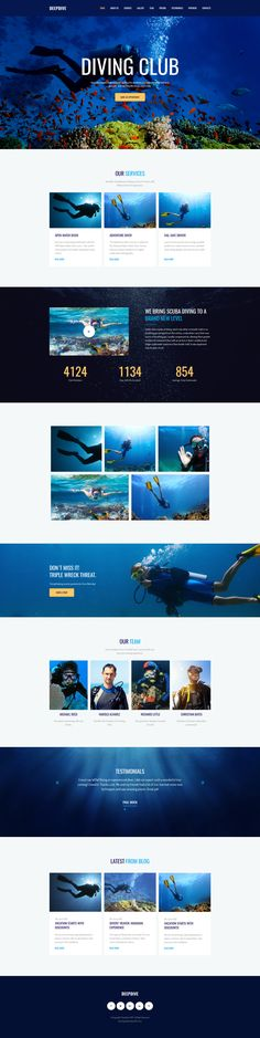 Deepdive - Sports & Outdoors & Diving Moto CMS 3 Template #63474