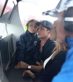 Brad Pitt and Son Knox Have an Adorable Day Out at the Racetrack