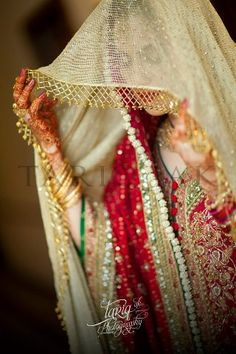 Pakistani bridal fashion - walking into nikkah
