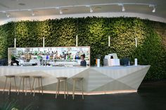 - décor - theme: green Bella sky hotel, bar with green living wall Lounge Design, Bar Lounge, Lounge Areas, Restaurant Design, Restaurant Bar, Commercial Design, Commercial Interiors, Café Bar, Hotel Reception