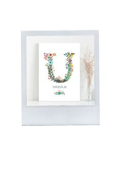 This personalised name illustrated print is a lovely gift for your maids.  Botanic initial print, £8.50, PaperPaper at notonthehighstreet.com