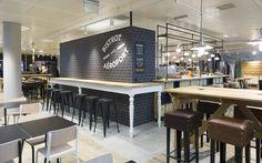 Generalunternehmung by retailpartners ag. Geneva Airport, Food Retail, Bar Design, Restaurant Design, Architecture, Studio, Table, Furniture, Home Decor