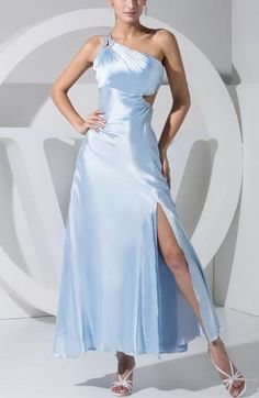 Sexy Sheath Column One-shoulder Homecoming Gown - Order Link: http://www.thebridalgowns.com/sexy-sheath-column-one-shoulder-homecoming-gown-tbg6274 - SILHOUETTE: Sheath/Column; SLEEVE: Sleeveless; LENGTH: Ankle Length; FABRIC: Elastic Satin; EMBELLISHMENTS: Split-Front , Sequin , Beaded , Paillette - Price: 138.99USD