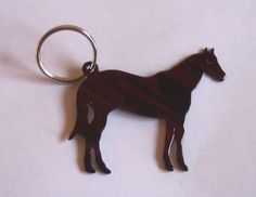 Key Ring Keychain Laser Cut Steel Standing Horse