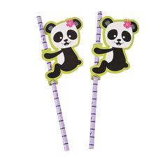 Panda Party Paper Straws - OrientalTrading.com