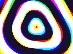 Trippy Triangles by Marc Edwards ✎ Bjango - Dribbble Trippy Music, Trippy Gif, Optical Illusion Gif, Illusion Art, Opt Art, Trippy Designs, Gif Background, Music Visualization, Triangle Logo