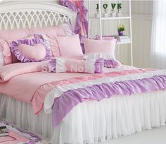 "BLUE Luxury bed kit PURPLE cake ruffle cotton bed duvet cover Queen King Free shipping BEDHEAD COVER CUSHION quilt HEART pillow  $<span itemprop=""lowPrice"">18.50</span> - <span itemprop=""highPrice"">199.80</span>"