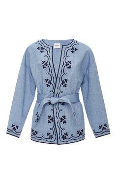 Embroidered Denim Jacket  by VILSHENKO Now Available on Moda Operandi