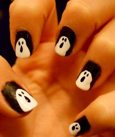 Ghost for it! #Halloween #nailart #nails