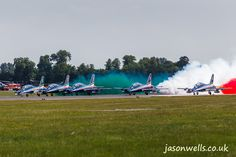 Frecce Tricolori taking off.  See the rest of my aviation images in full size by clicking on the thumbnail.  They are also available to buy in a variety for formats or as a digital download without the watermark.