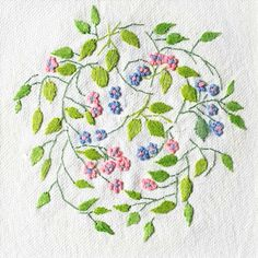 Embroidery: Vines and Flowers #156, Patricia Van Ness