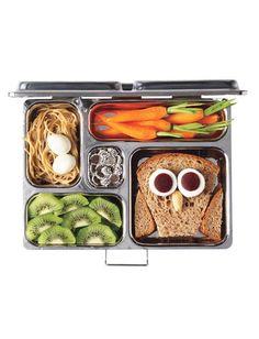 peanut butter soba noodles | owl sandwich | bento box
