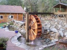Water wheel plans & electricity generation information