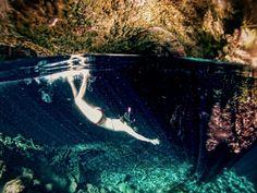Nothing adventured nothing attained. Miss swimming in this gem  #underwaterworld #freediving #waterlust #cenote #thegirlandthewater  #lifeofadventure #gopro #goprooftheday #wanderlust #exploremore by steph3559