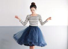 Mia  Tutu Tulle Skirt with Horsehair Trim by DearMyJessWedding