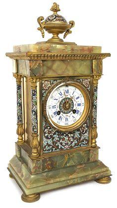 Samuel Marti Enamel Clock