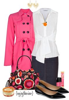"""""""hot pink for spring"""" by enjoytheview ❤ liked on Polyvore"""