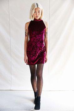 Urban Renewal Remade Velvet Mini Dress - Urban Outfitters
