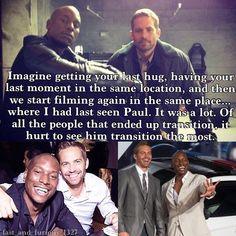 Tyrese Gibson talking about Paul Walker