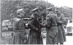 General alemão Otto Fretter Pico e General Mario Carloni rendendo-se à FEB depois da batalha de Fornovo di Taro.