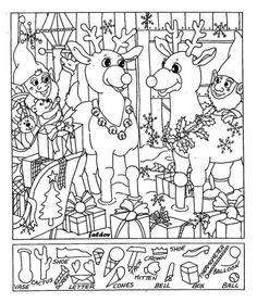 Christmas Hidden Picture Puzzles Printable Christmas Hidden Coloring Pages Printable Coloring Pages, Colouring Pages, Coloring Books, Coloring Sheets, Christmas Colors, Kids Christmas, Christmas Crafts, Christmas Worksheets, Christmas Activities