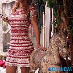 Чудесное, летнее мини-платье от Ванессы Монторо, вязаное крючком | Блог elisheva.ru