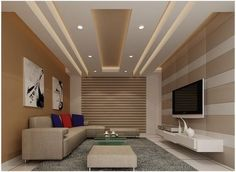 Overall View Of Modern Ceiling Design In Living Hall With Samsung Fair Ceiling Design For Living Room Inspiration Design