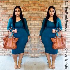 Fitted fall midi dress.....sleek and sexy