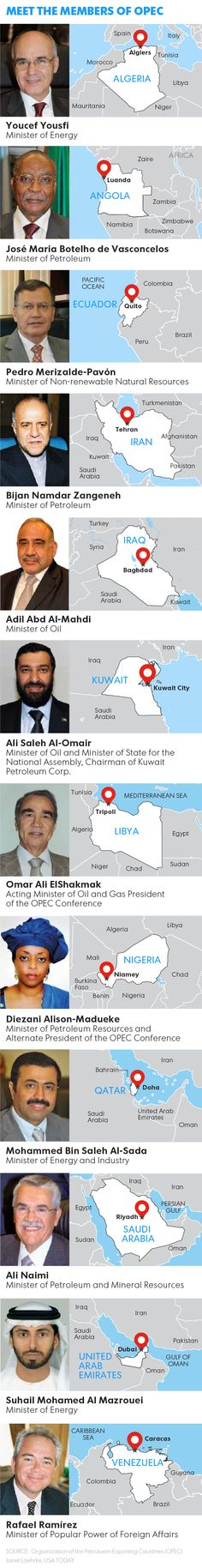 Infographic: Meet the Organization of Petroleum Exporting Countries (OPEC) members